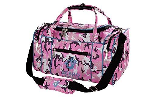 Praktische Sport-Tasche, Reise-Tasche für Damen | Trendige GYM BAG ARMY PINK für Frauen mit vielen Fächer, Schultergürtel, Tragegurt für Fitness, Sport und Reisen | SEBRO SPORTS - 30 Liter Camouflage Design