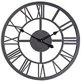 Gardman Uhr mit römischen Ziffern, schwarz, 42x4x42 cm, 17236