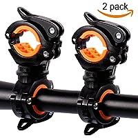 Medlife Bike Taschenlampe Klemme, Fahrrad Taschenlampe Halterung, Fahrrad Taschenlampe Halterung, Bike Licht 2Stück