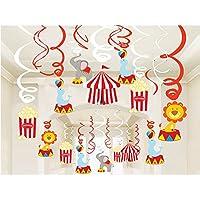 Bdecoll Decoración 30 Piezas,Hanging Swirl Decorations,Swirl guirnalda de Party Decor