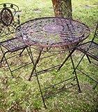 KUHEIGA Romantischer Gartentisch Metalltisch Eisentisch Tisch