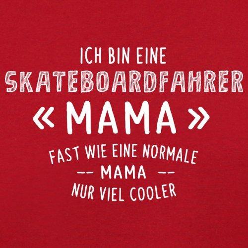 Ich bin eine Skateboardfahrer Mama - Herren T-Shirt - 13 Farben Rot