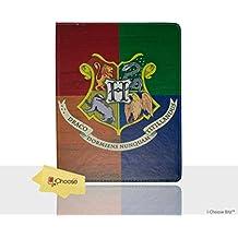 Apple iPad 2,3,4 Casas de Harry Potter Caso Folio / Cubierta Protectora de La PU del Cuero Elegante de PU / iCHOOSE / Hogwarts
