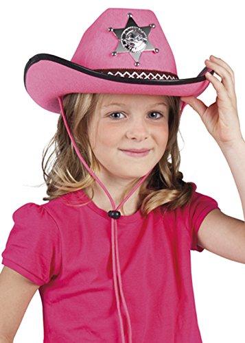 Kinder Größe Rosa Sheriff Cowgirl Hut (Hut Kind Rosa Cowgirl)