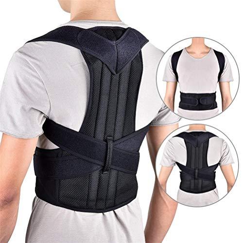 Jiahe Einstellbare Rückenhaltung Korrektor Schulter Lordosenstütze Wirbelsäule Stützgürtel für Männer oder Frauen, Korrektur für obere und untere Rückenstütze, Brace Slouch zu verbessern (S-4XL),M
