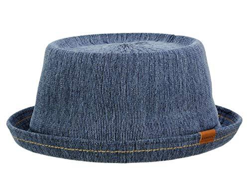 Kangol Indigo Mowbray Pork Pie Hut aus Baumwolle - Jeans (IN431) - 58-59 cm (L)