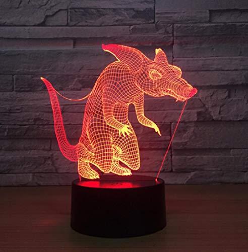 Joplc Maus 3d licht touch control nachtlicht party dekorationen baby zimmer geschenk 3d lampe wohnkultur