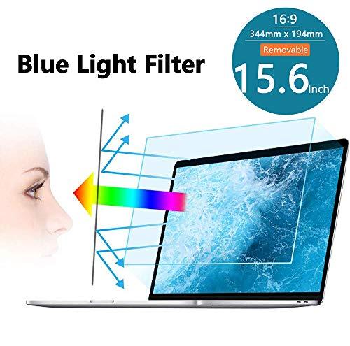 "FiiMoo Abnehmbarer 15.6 Zoll Laptop Anti Blue Screen Protector, Premium Anti Blaulichtfilter, Blendschutzfolie Augenschutz Displayschutzfolie für 15.6\"" Display 16: 9-Removable"