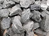 Sauna Stones Premium Pre-Washed Diabas for All Sauna Stoves Heat Resistant Grain 50-80 mm