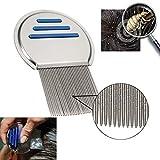 AlexVyan Terminator Lice Comb No Nit Hair Rid Headlice Superdensity Stainless Steel Metal