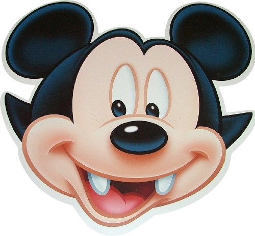 Disney Halloween Mickey Mouse Vampire - Card Face Mask - Licensed Product [Toy]