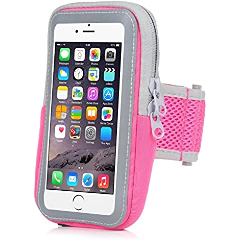 Sports Armband, SoftFloat® Multifunctional Outdoor Sports Armband Casual Arm Package Bag Cell Phone Bag Key Holder For iphone7Plus 6Plus 6sPlus Galaxy s7 s6 beautiful and practical -(Pink)