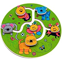 Hess Wooden Baby Toy Basinet/ Stroller Clip On Fox