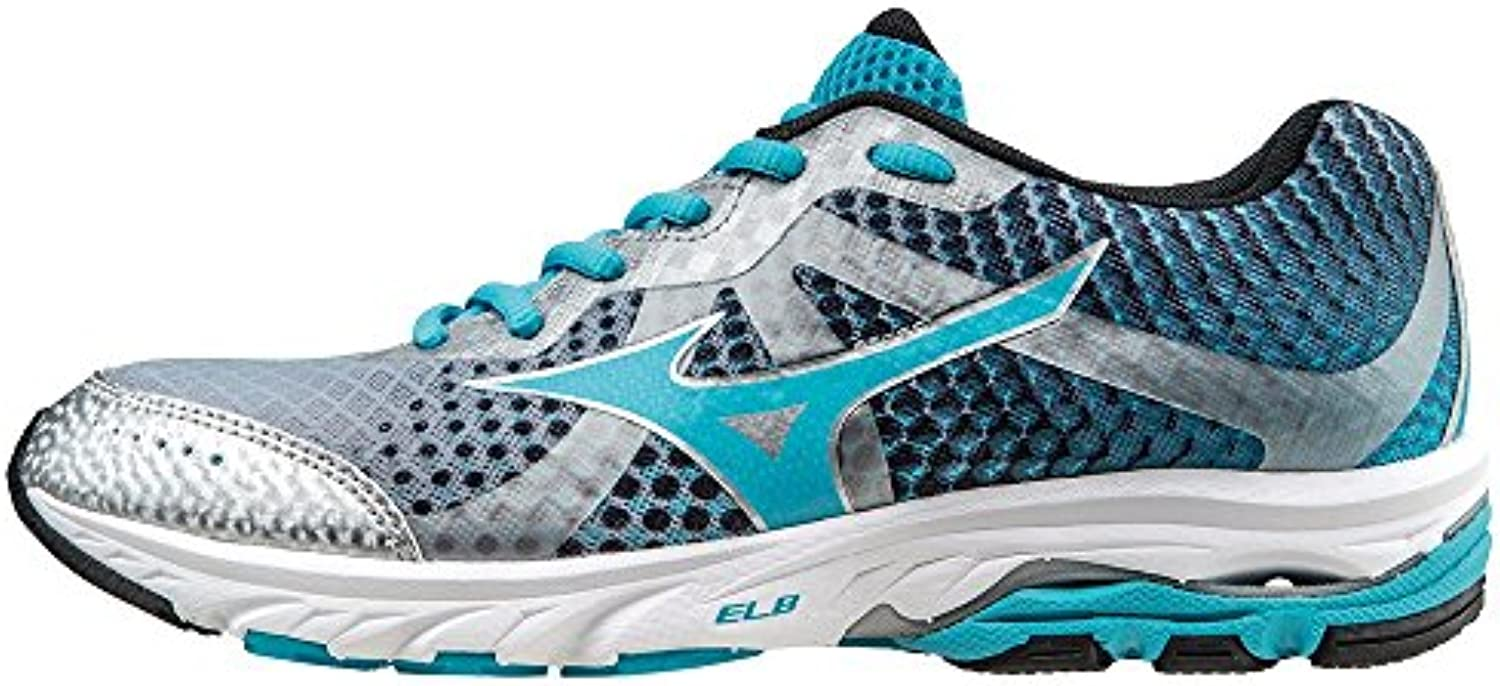 Mizuno Shoes Running Officially Wave Elevation WOS J1GL141766 Argento Celeste Nero Size 37 SHIPPED FROM ITALY