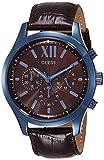 Guess Hommes Chronographe Quartz Montre avec Bracelet en Cuir W0789G2