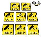 Osun 8Stück, selbstklebend für die CCTV In Operation, die sich Warnung Aufkleber Vinyl Safty, 11x 11cm, 4.334.33cm