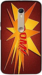 Timpax Protective Armour Case Cover. Multicolour Printed Design : A star in a red background.100% Compatible with Motorola Moto X-3 ( 3rd Gen )