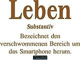 CLICKANDPRINT Aufkleber » Definition Leben, 160x109,0cm, Kupfer Metallic • Dekoaufkleber / Autoaufkleber / Sticker / Decal / Vinyl