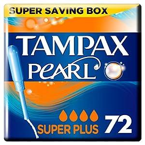 Tampax Pearl Super Plus Applikator Tampons, 4Pack, 18-count