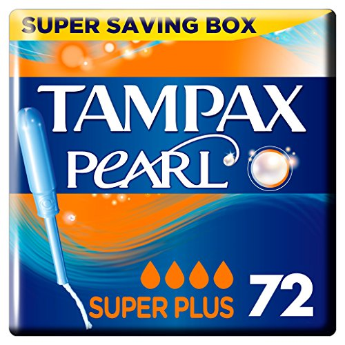 Tampax Pearl Super Plus Applikator Tampons, 4 Pack, 18-count -