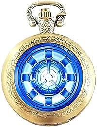 Caja de regalo de Iron Man - Reactor de bronce antiguo grabado/del collar de