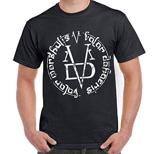 T-Shirt Uomo Maglietta Scura Stampa Game of Thrones Valar Morghulis Faceless Man, Colore: Nero, Taglia: XXL