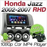 tunez Doppio din per auto da 7 pollici Android Car GPS MP3 MP4 USB Sat Nav Player per Aftermarket Honda Jazz Fit 1a generazione Gen 2002-2007 Radio Stereo Touch Screen per auto stereo (RHD) Destro