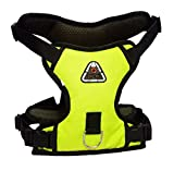 Petshop7 Dog Harness No Pull Padded Easy Fit Chest Harness/Adjustable Reflective Breathable Soft Mesh Outdoor Training Walking Comfort Control for Dogs (Xtra Large(Chest Size : 35-48inch), Yellow)