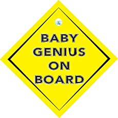 Baby on Board Sign/Sticker for Cars with Suction Cup.