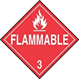 Accu Forma Signs mpl301ct10PF de Card stock Hazard Class 3Dot placard, Legend Flammable 3with Graphic, 10-3/4width x 10-3/4length, White on Red (Pack of 10) by Accu Forma