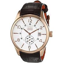 Cerruti 1881 señores-reloj analógico de cuarzo cuero Lipari CRA098C213D