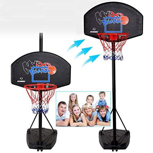 T&P Tragbarer Junior-BasketballstäNder, 3m Professioneller Verstellbarer Basketballkorb Und Korbhalter, Mobiler Basketballkorb Mit RäDern/Outdoor-Sportarten
