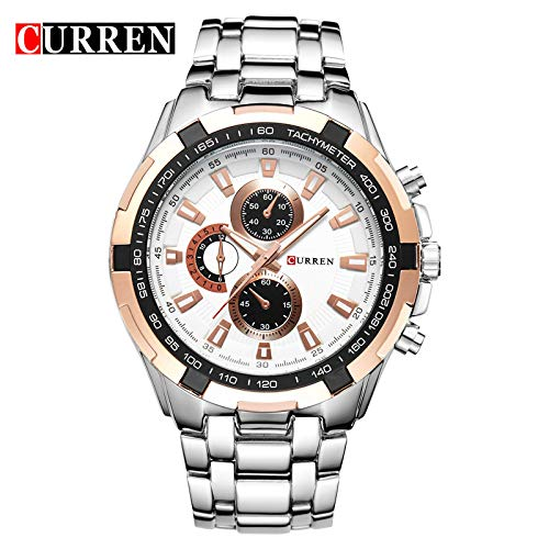 Mocontg Men's Automatic Mechanical Watch Analog Wrist Watch Stainless Steel Leather Bands Calendar...