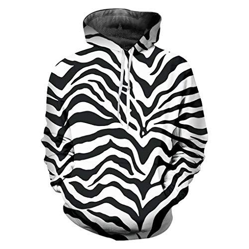 Madela Hoodies Sweatshirts Mit Kapuze Leopard 3D Hoodies Bedruckt Zebra Streifen BeiläUfige Plus GrößE 6XL KostüM Mann Winter Hoodie Zebra Stripes L -