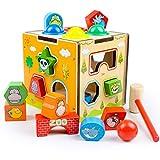 QXMEI Giocattoli Per Bambini Blocchi Per Bambini Puzzle Per Bambini Apprendimento Precoce Geometria Cognitiva Multifunzionale Dimensioni Prodotto: 5.7pollices * 5.5pollices * 5.5pollices