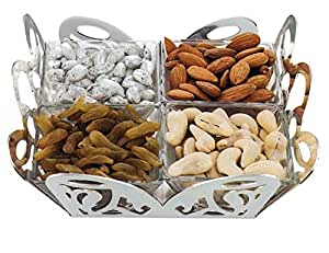 Momentz Elegant Dry Fruit Platter - 4 Bowls