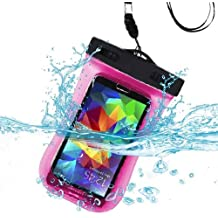 Premium funda deportiva con brazalete resistente al agua bolsa para Motorola Moto X (2014), Moto X + 1, XT1080M (DROID Maxx), XT1030 (Droid Mini), XT1080 (DROID ULTRA), XT926M (DROID Razr Maxx HD), XT897 (Photon Q), XT881 (Electrify 2), MB886 (Atrix HD), XT926W (DROID Razr HD) (Con correa) (rosa)+ MYNETDEALS Mini pantalla táctil lápiz capacitivo