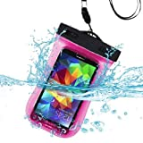 Premium wasserdicht Sport Armband Fall Tasche für BLU Vivo air, Selfie, Studio Energie, Studio 5.0C HD, Win HD, Win HD LTE, W110i (Tank 4.5), D310(Dash 4.5), A310A (Advance 4.5) (mit Lanyard) (Hot Pink) + mynetdeals Mini Touchscreen Stylus