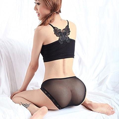 OOCOME 2pcs nero biancheria intima delle donne sexy della biancheria pura senza saldatura breve Panty