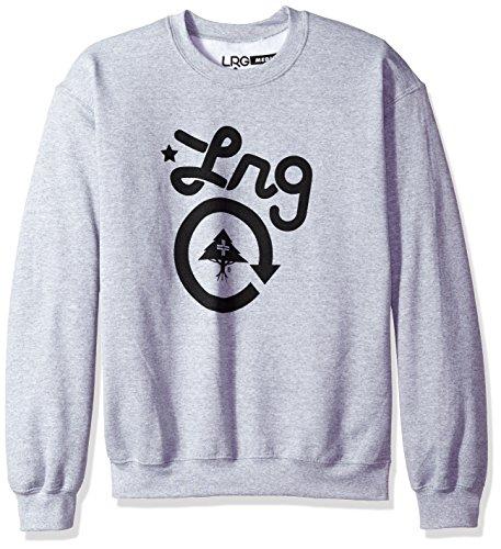 LRG Herren Cc One Crewneck Sweatshirt, Ash Heather, Klein Poly Crewneck Fleece Sweatshirt
