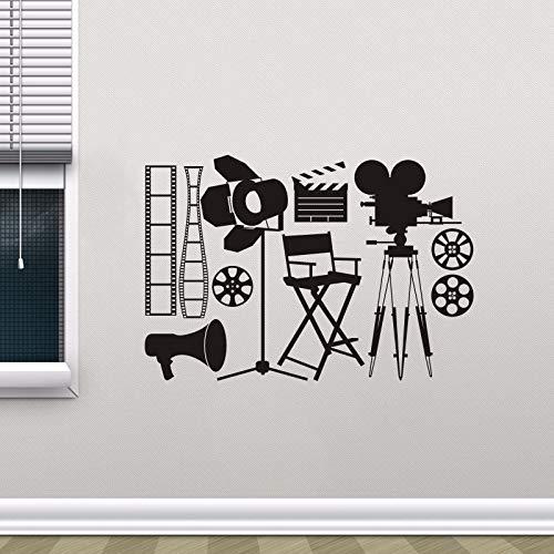 WWYJN Vinyl Wall Sticker Camera Spot Light Wall Mural Movie Cinema Decoration Film Making Tools Vinyl Wallpaper Movie Vinyl Art57X83CM - Blume, John Light