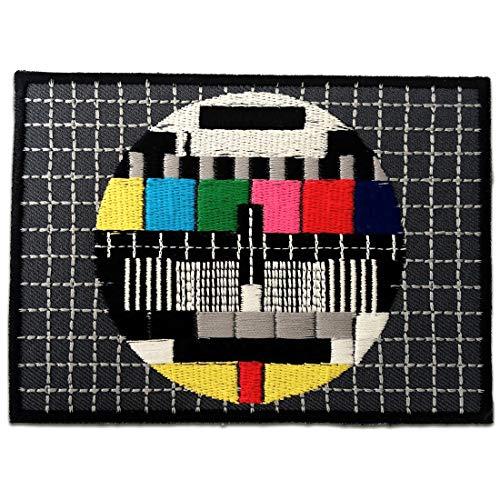 TV TEST Patch ''11,2 x 8,3 cm'' - Aufnäher Aufbügler Applikation Applique Bügelbilder Flicken Embroidered Iron on Patches