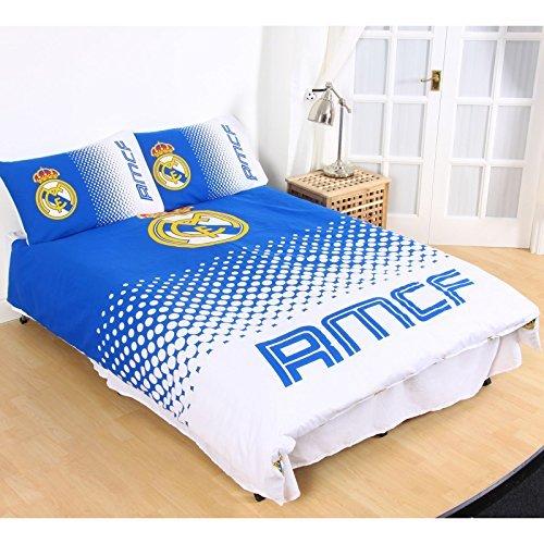 FC Real Madrid doble funda de edredón y funda de almohada, diseño de FADE