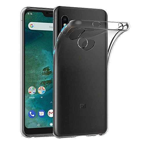 Capa Case Xiaomi Mi A2 Lite Ferilinso, Ultra Slim Caso Capa de Silicone Protetora contra Risco TPU Case Capa de Borracha para Xiaomi Mi A2 Lite (transparente)