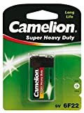 Camelion 10000122 Super heavy duty Batterien 6F22 9 Volt Block/ 1 Stück