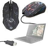 DURAGADGET Gaming Mouse con LED Colorati per Computer Lenovo 100e Chromebook / 300e Chromebook / 500e Chromebook/ThinkPad 11e (5th Gen) / ThinkPad 11e Yoga (5th Gen) – Design Scorpione – USB