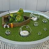 Gartenzaubereien Miniteich Set, Krokodil im Boot