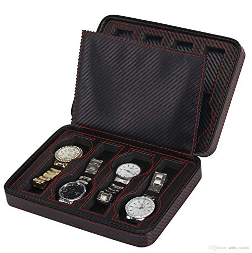 Case Porta 8 Uhren Kohlefaser PU