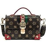 WOAIRAN Frauen Umhängetasche Umhängetasche Mode Vintage Druck Mini Damen Handtasche Kleine Quadratische Tasche Umhängetasche Rot