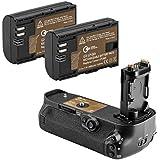 Green Extreme BG-E20 Battery Grip + 2-Pack High Capacity 2000mAhLP-E6/LP-E6N Batteries, Replacement For Canon 5D Mark IV Digital SLR Camera